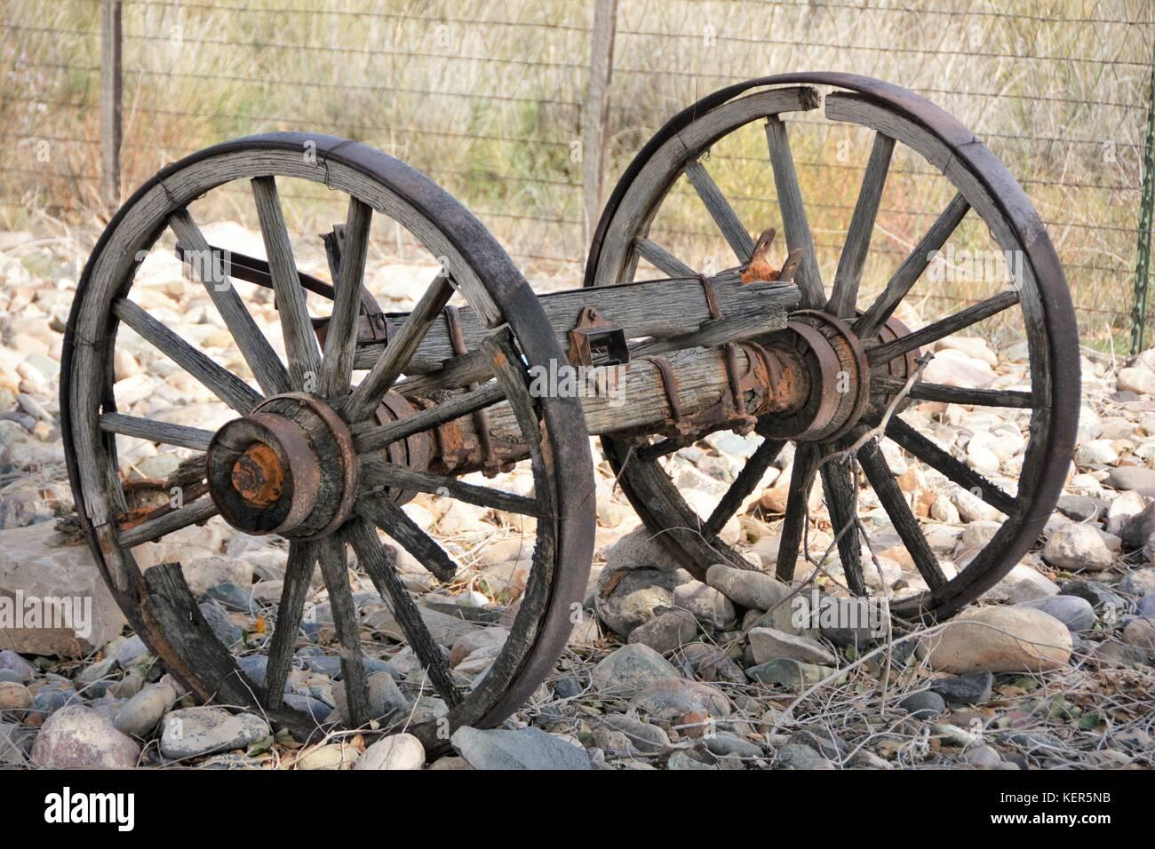 Marvelous Old Wagon Wheels   Stock Image