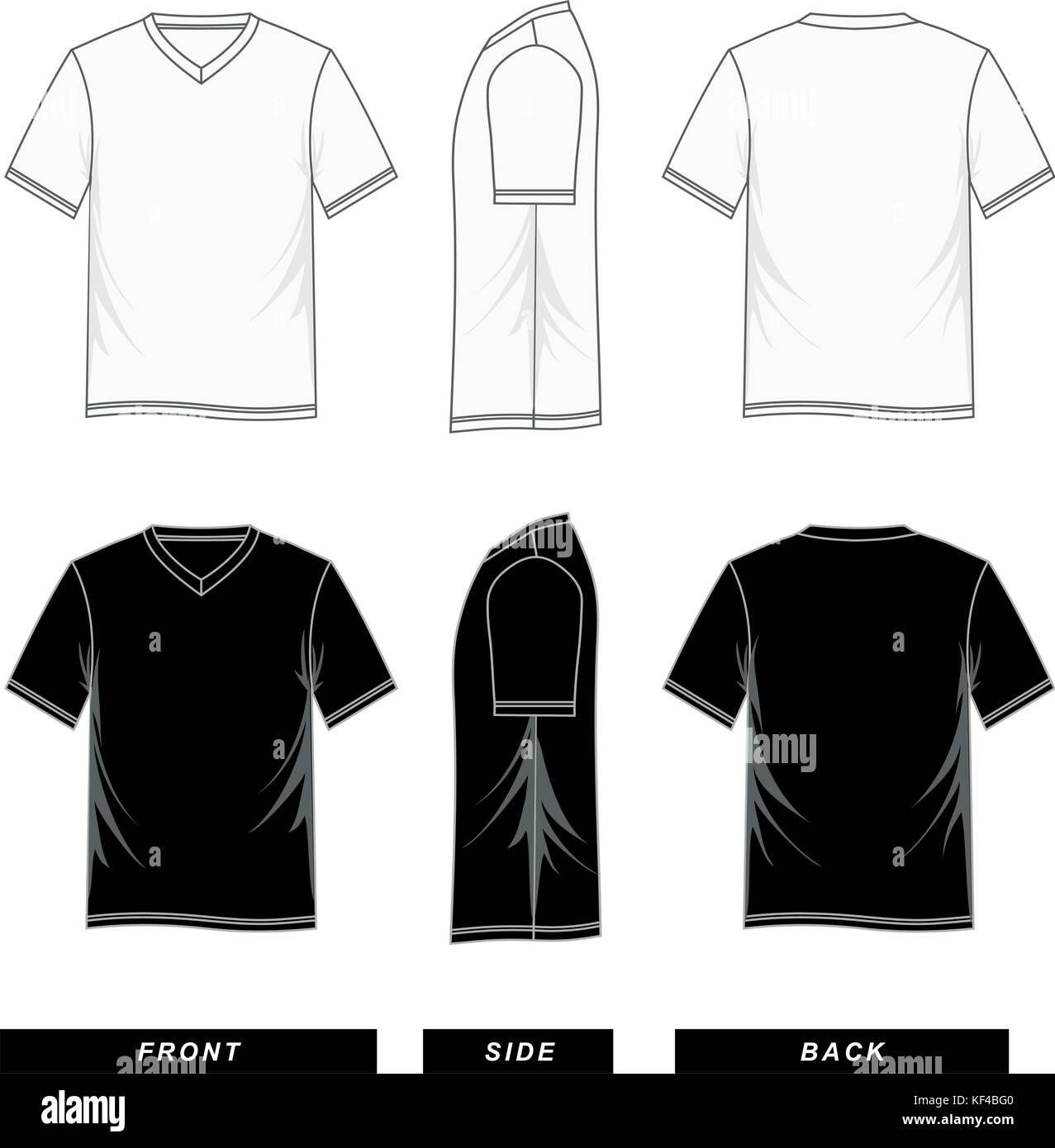 fab02b05aa42 T shirt short sleeve V-neck templates colorful
