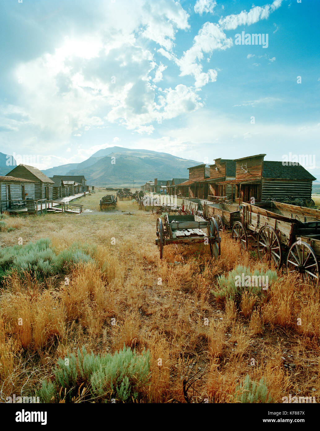 USA, Wyoming, Codyk, Old Trail Town - Stock Image