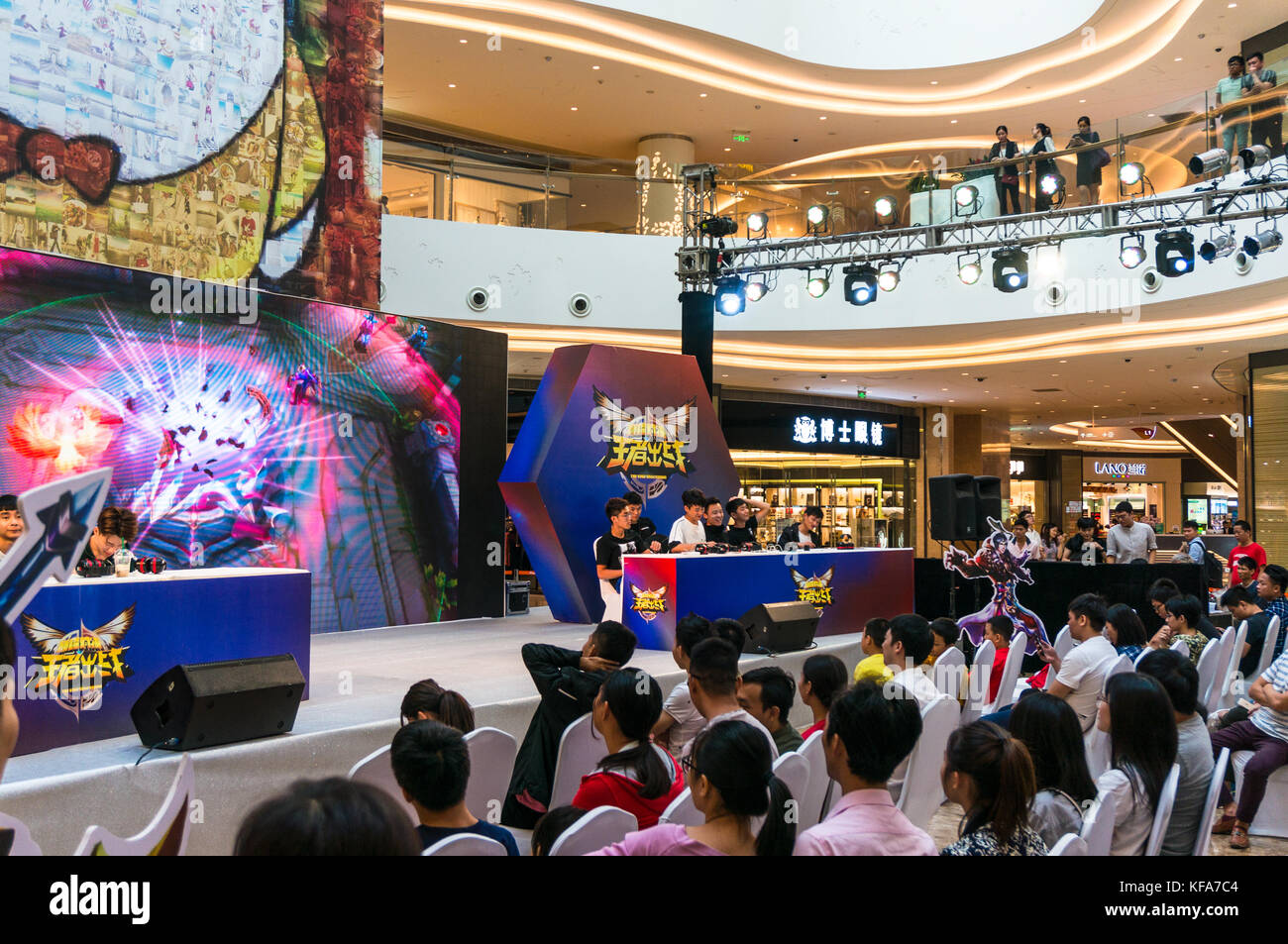 Kings Smackdown, a League of Legends style video game competition and audience in Shenzhen, China - Stock Image