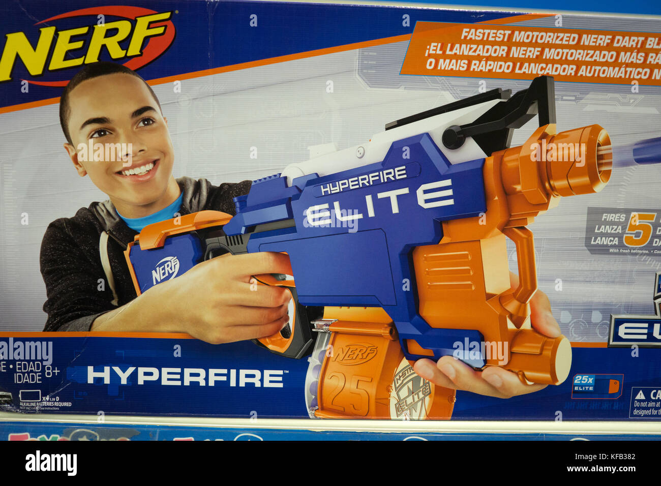 A Nerf Gun On Sale Within A Toys R Us Department Store Philippines