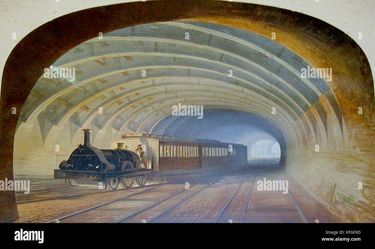 A GWR broad gauge train at Praed Street junction near Paddington, London - Stock Image