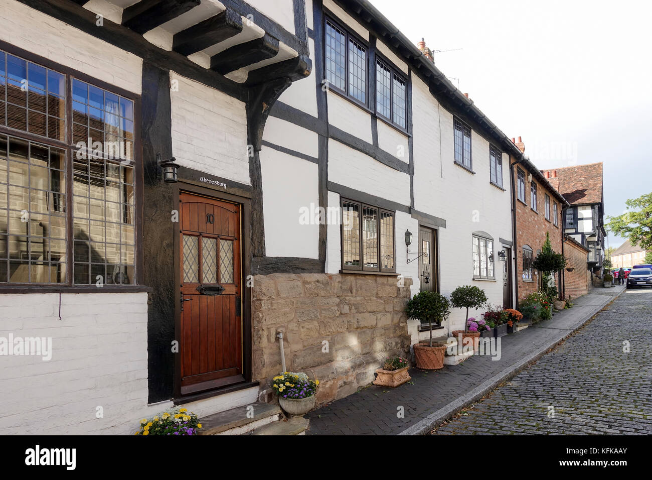 Mill Street, Warwick -1 - Stock Image