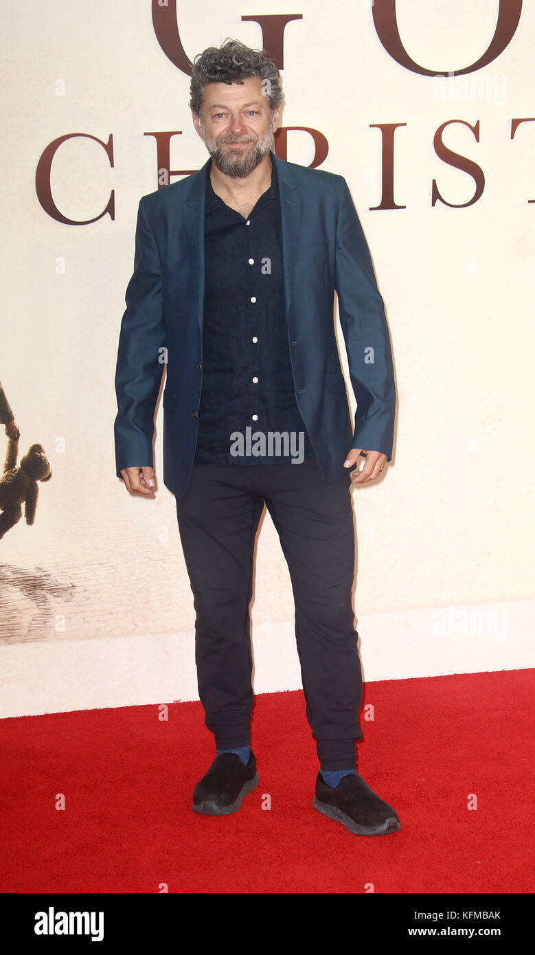 Sep 20, 2017 - Andy Serkis attending 'Goodbye Christopher Robin' World Premiere, Leicester Square in London, - Stock Image