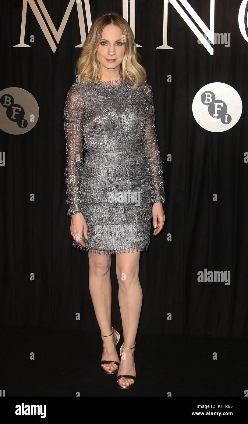 Oct 03, 2017 - Joanne Froggatt attending 'BFI Luminous Fundraising Gala at The Guildhall in London, England, - Stock Image