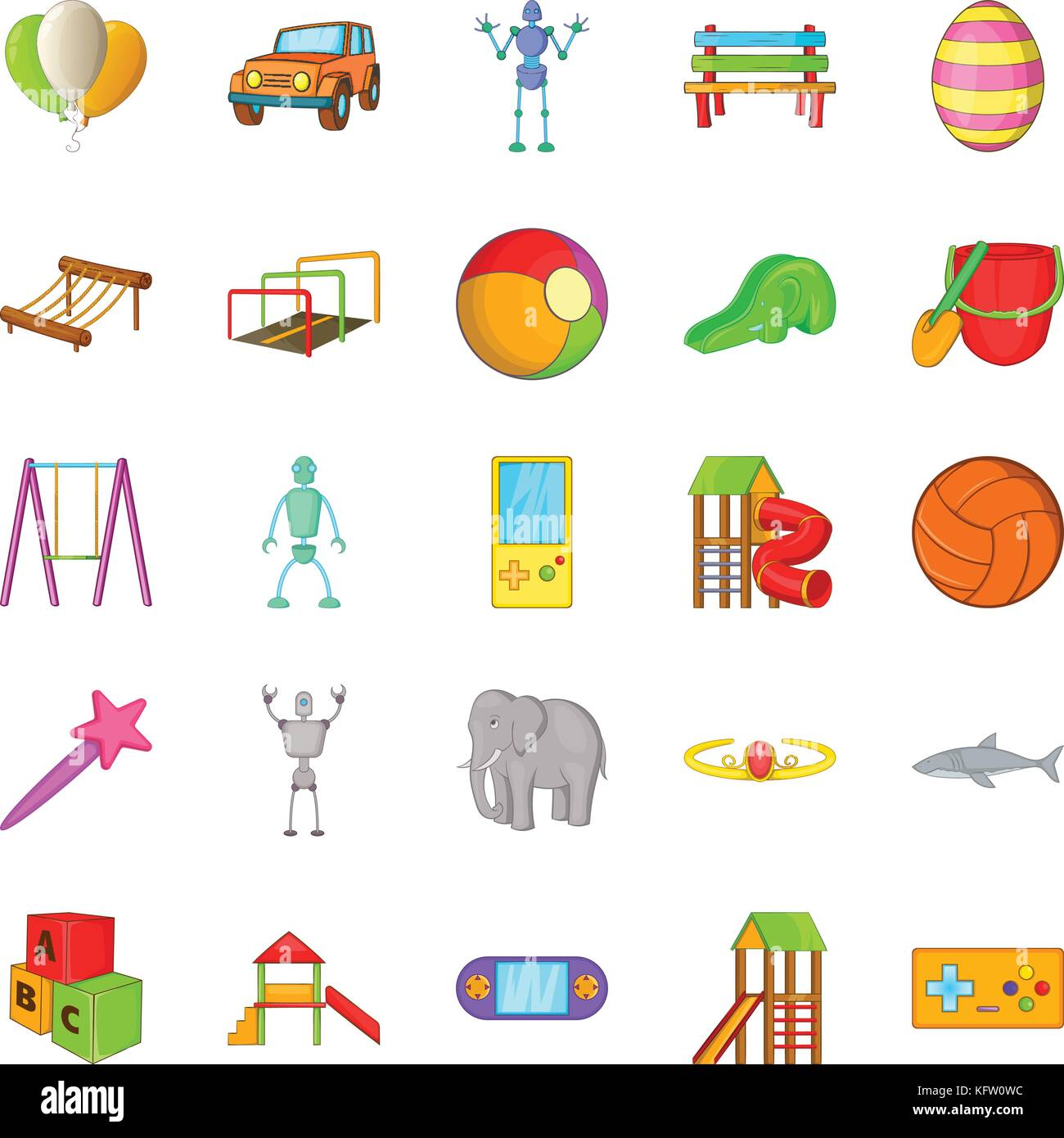 School Yard Stock Vector Images Alamy