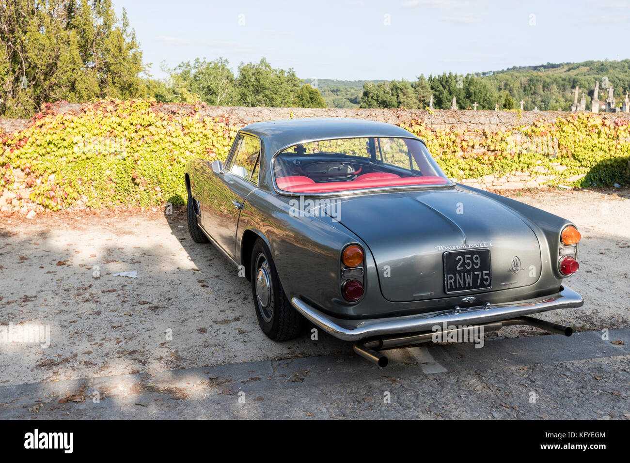 Maserati 3500 GT superleggera rear view Stock Photo