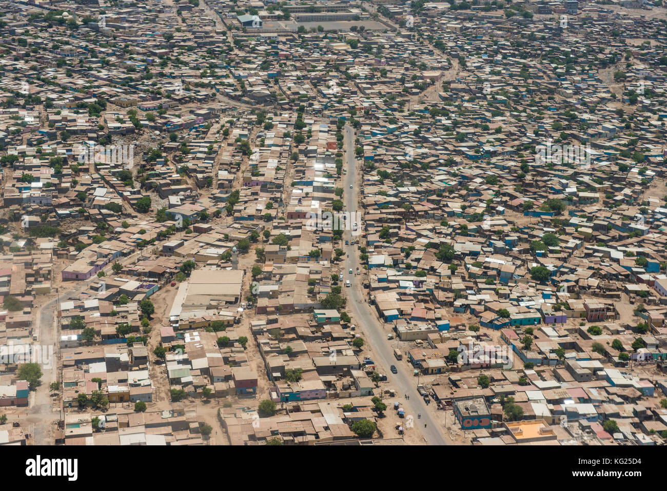 Aerial of Djibouti on the Horn of Africa, Africa - Stock Image