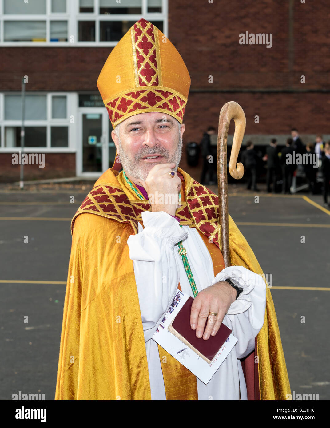 Right Reverend Stephen Cottrell, Lord Bishop of Chelmsford  in Essex.   A Church of England Bishop Stock Photo