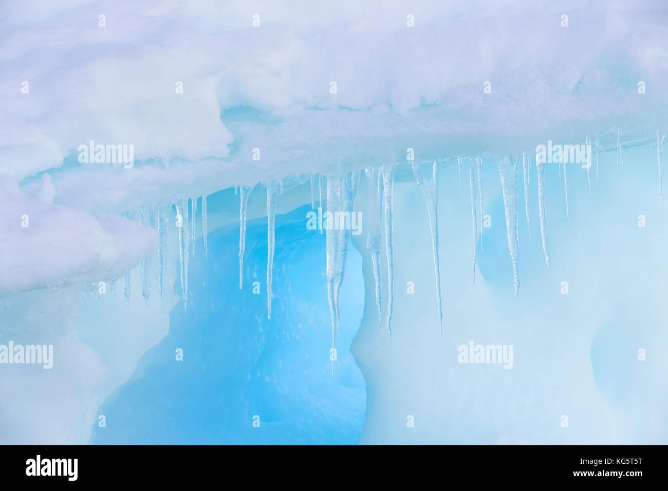 Antarctic icicles, Antarctica - Stock Image