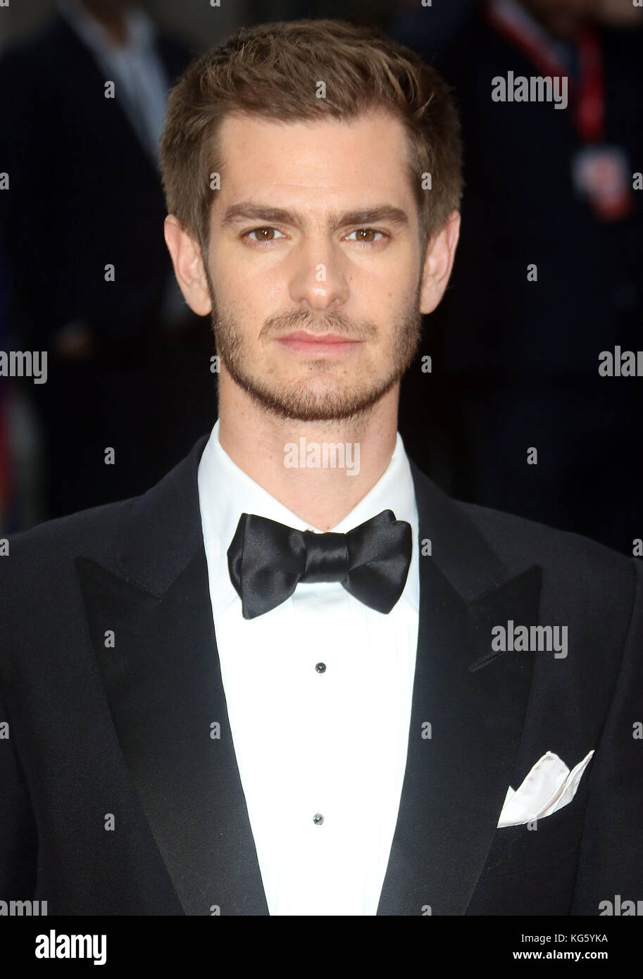 Oct 04, 2017 - Andrew Garfield attending 'Breathe' European Premiere, Odeon Leicester Square in London, - Stock Image