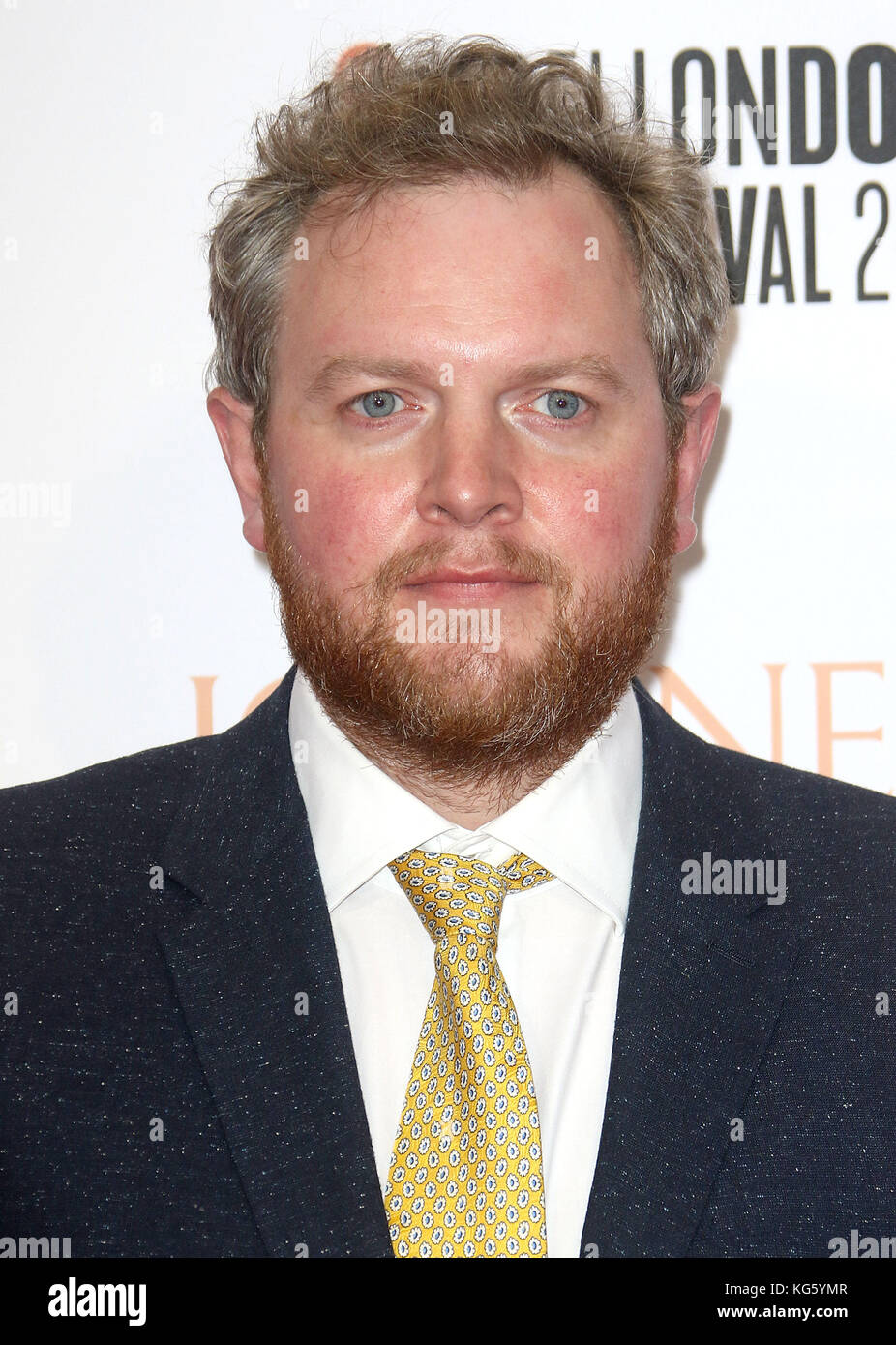 Oct 06, 2017 - Miles Jupp attending 'Journey's End' European Premiere, Odeon Leicester Square in London, - Stock Image
