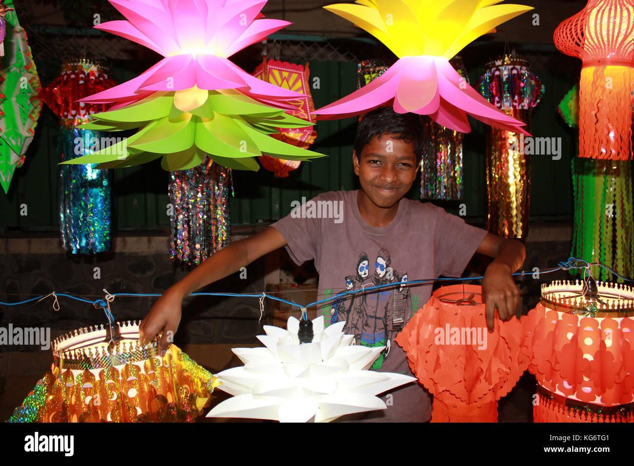 Lantern Seller - Stock Image