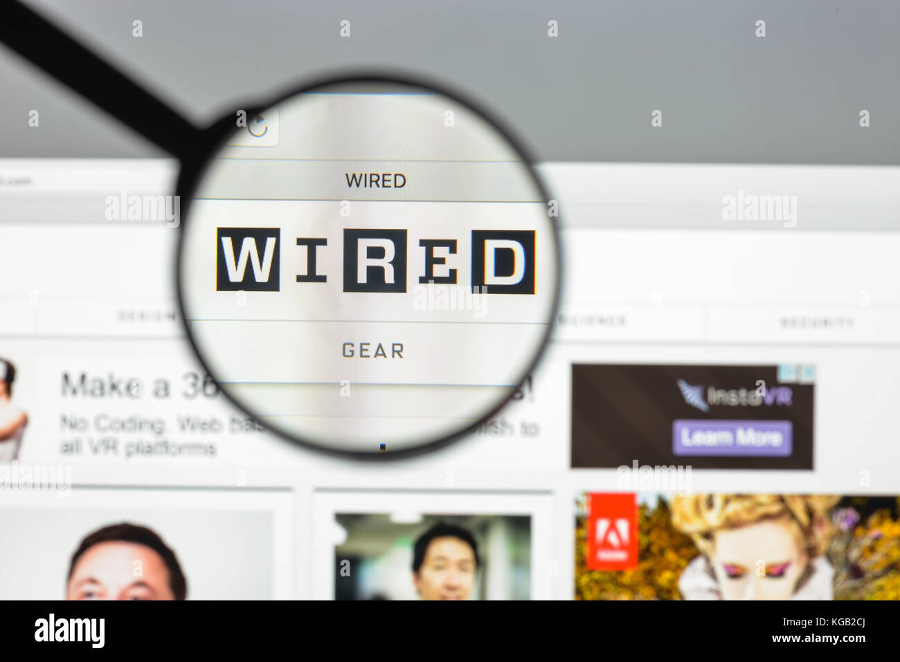 Milan, Italy - August 10, 2017: Wired website homepage. It is a ...