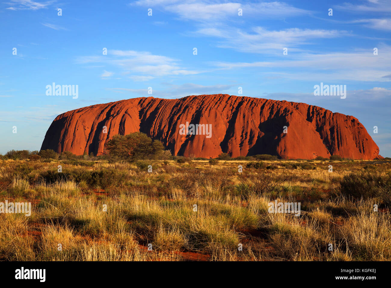 sunset at uluru or ayres rock in the northern territory australia Stock Photo