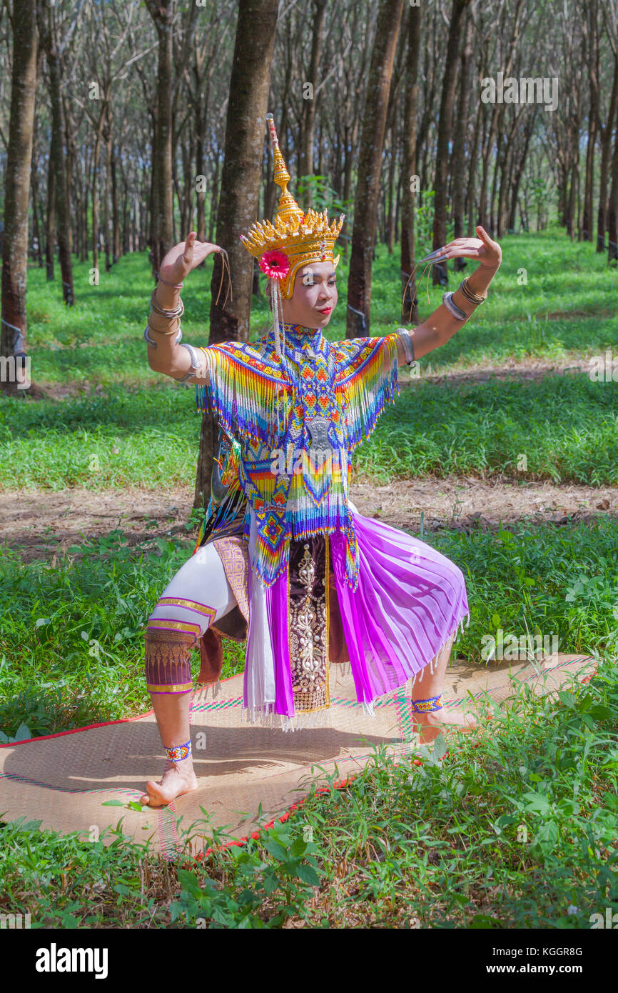 The Nora is a traditional dance of Southern in Thailand. whose origins lie in various legends of which there are - Stock Image