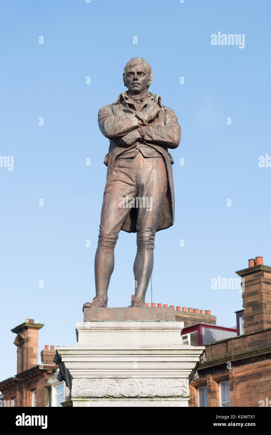 Robert Burns statue, Ayr, Scotland, UK Stock Photo