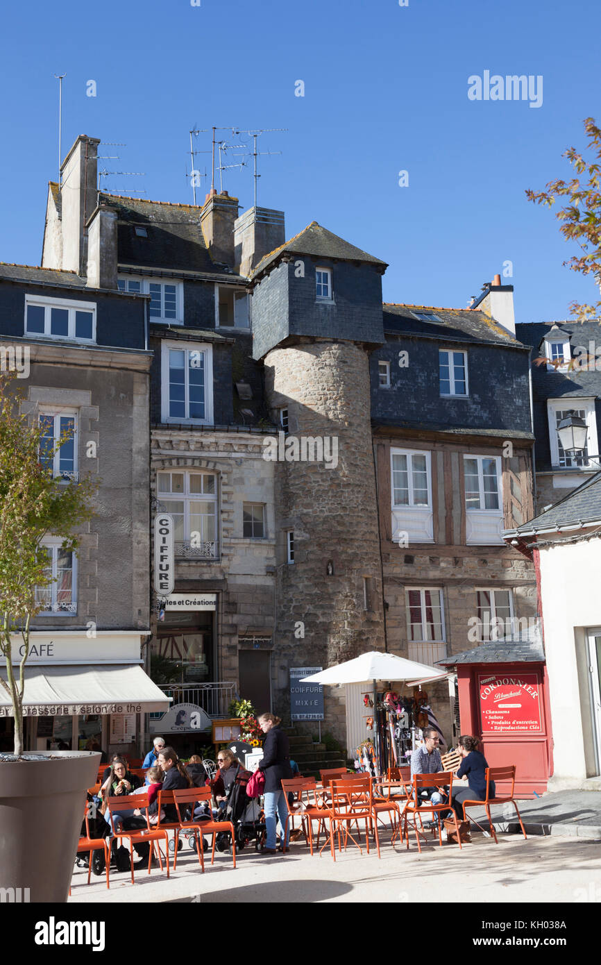 At Vannes (Morbihan - France), a house (Credey house) dating back from the XV th century after rehabilitation. - Stock Image