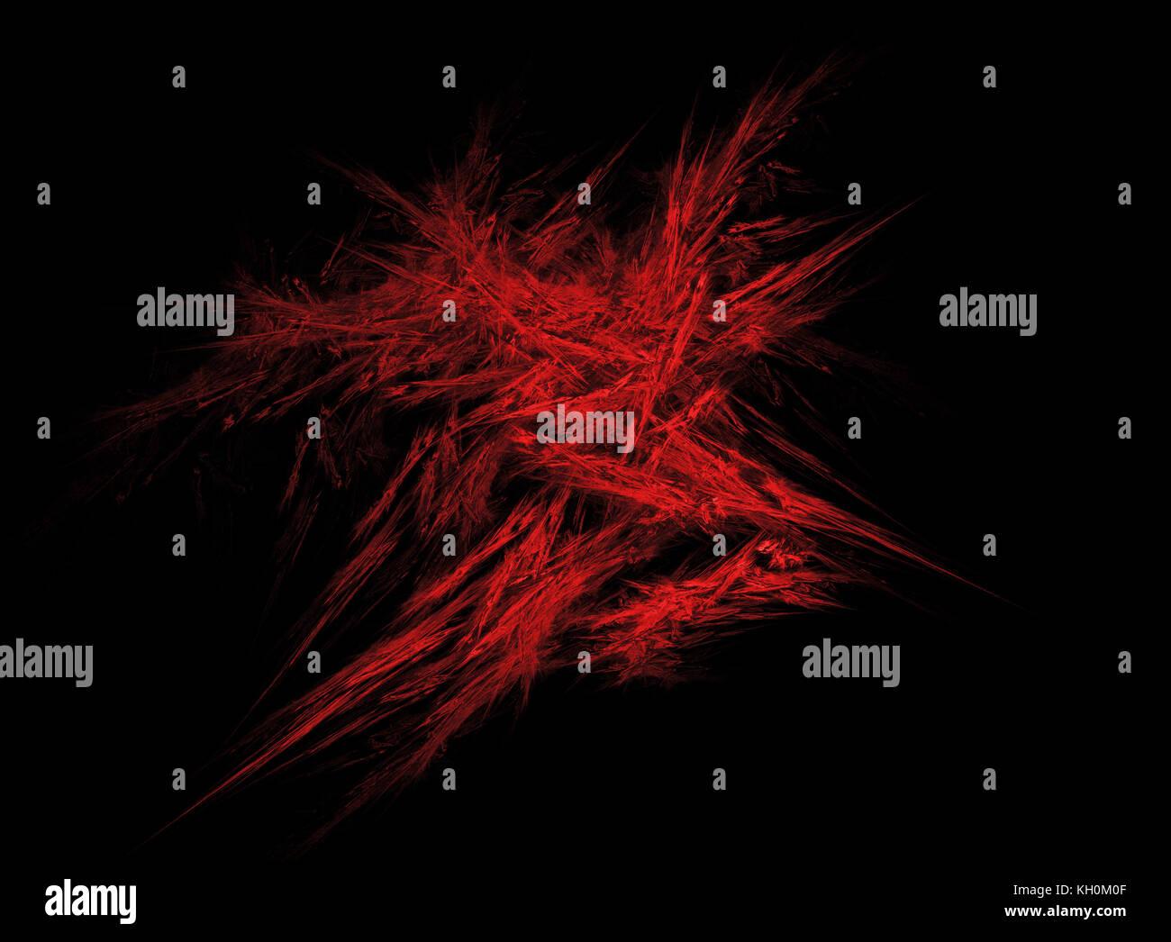 Red energy explosion. Fractal art. - Stock Image