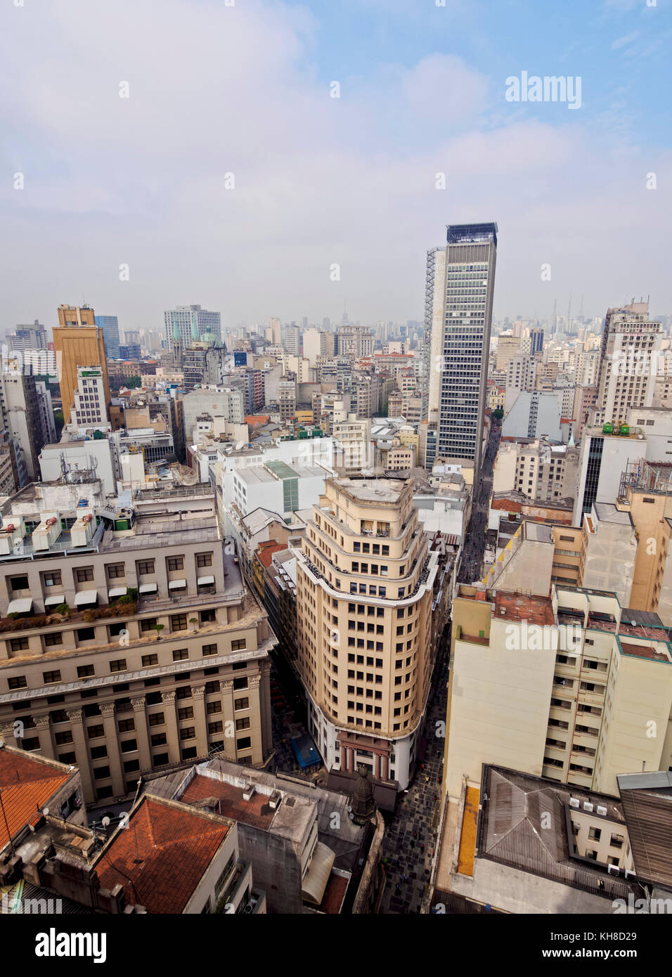 Cityscape, seen from the Martinelli Building, Sao Paulo, Brazil - Stock Image