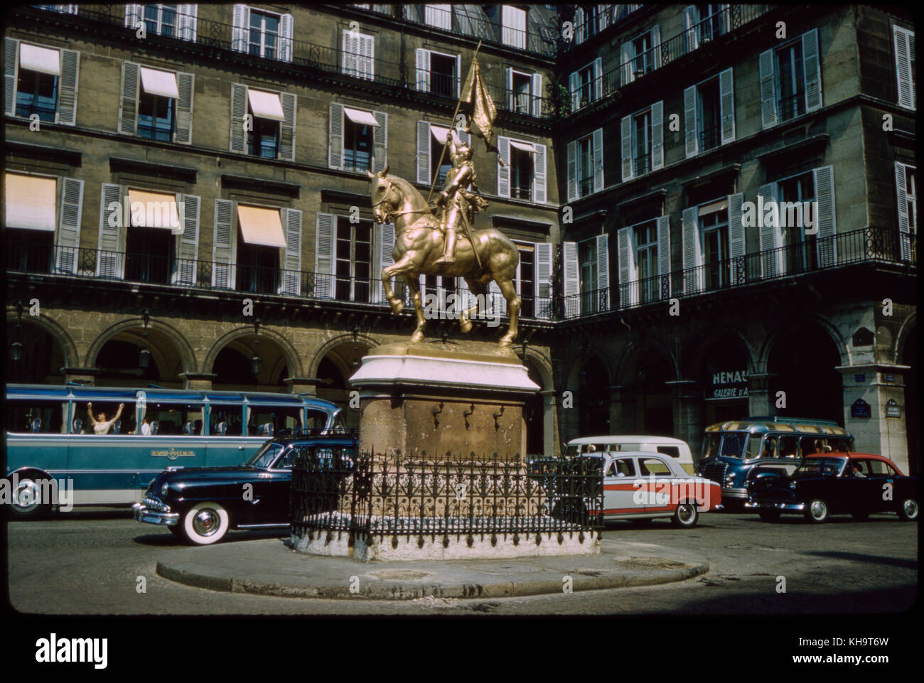 Jeanne d'Arc Sculpture, Place des Pyramides, Paris, France, 1961 - Stock Image