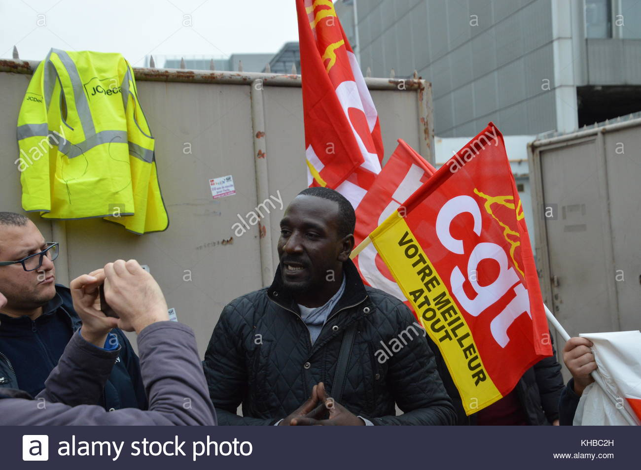 Saint Denis, France. 15th Nov, 2017. Cyclocity employee representative committee secretary, Bambo Cissokho Credit:, - Stock Image