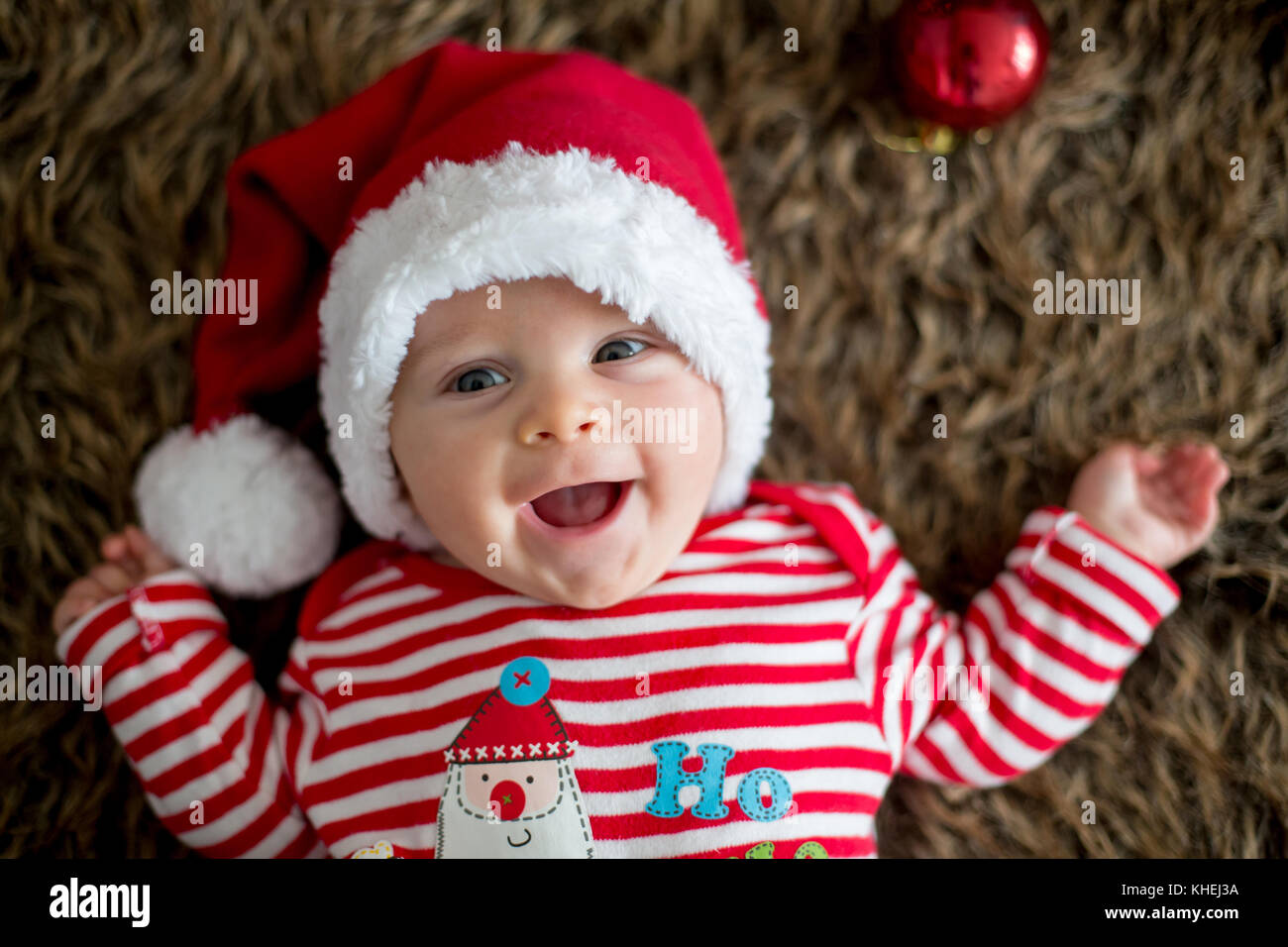 5fc4b9e7d19c3 Christmas portrait of cute little newborn baby boy