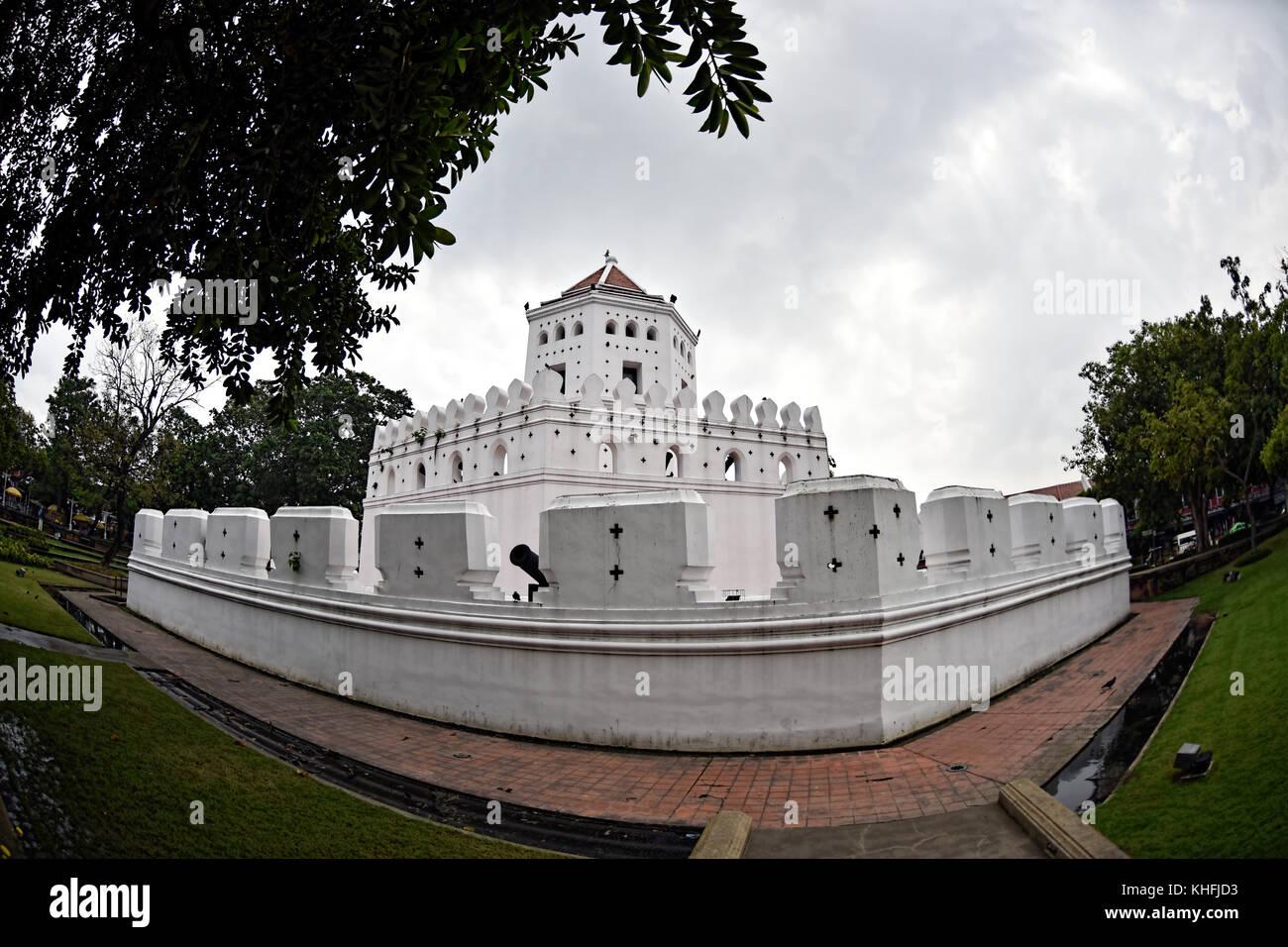 Fort at Phra Arthit, Bangkok, Thailand - Stock Image