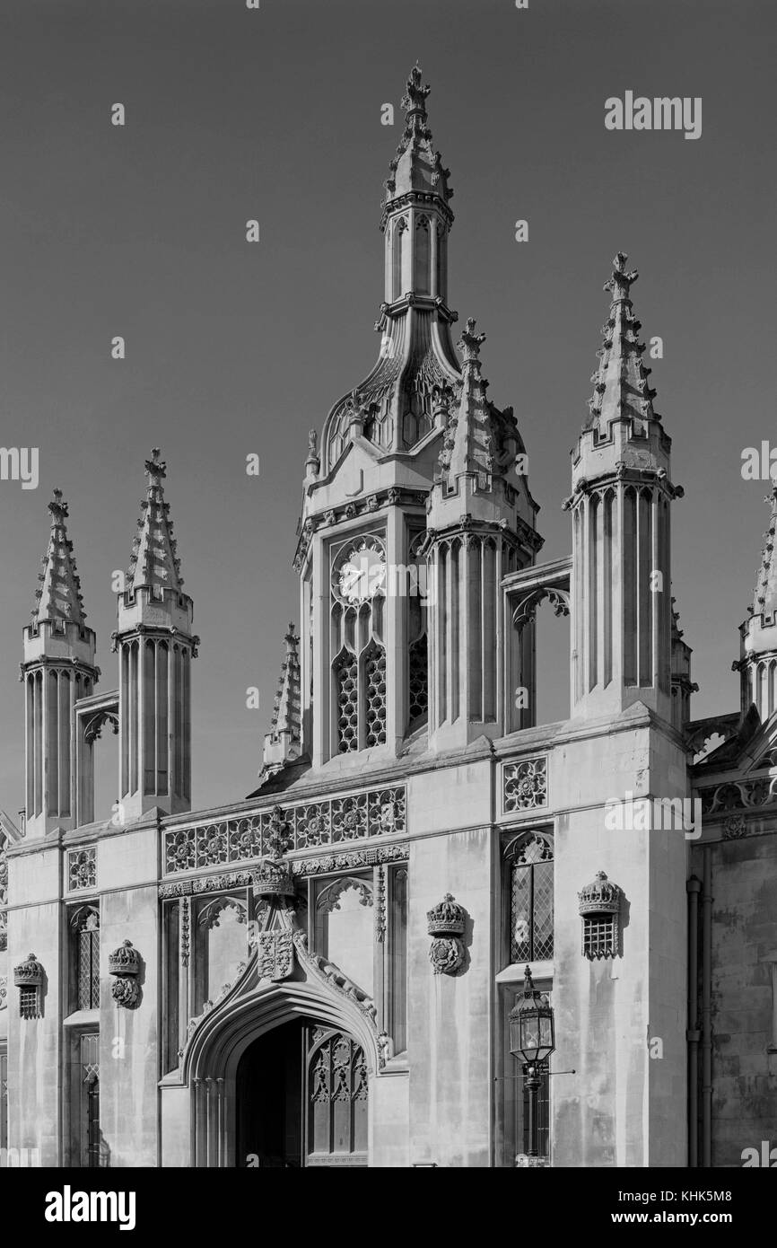 Gate of King's College Cambridge - Stock Image