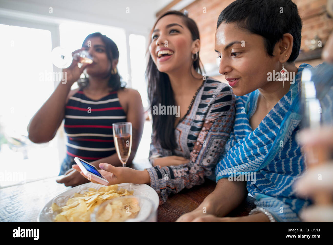 Young women at a party - Stock Image