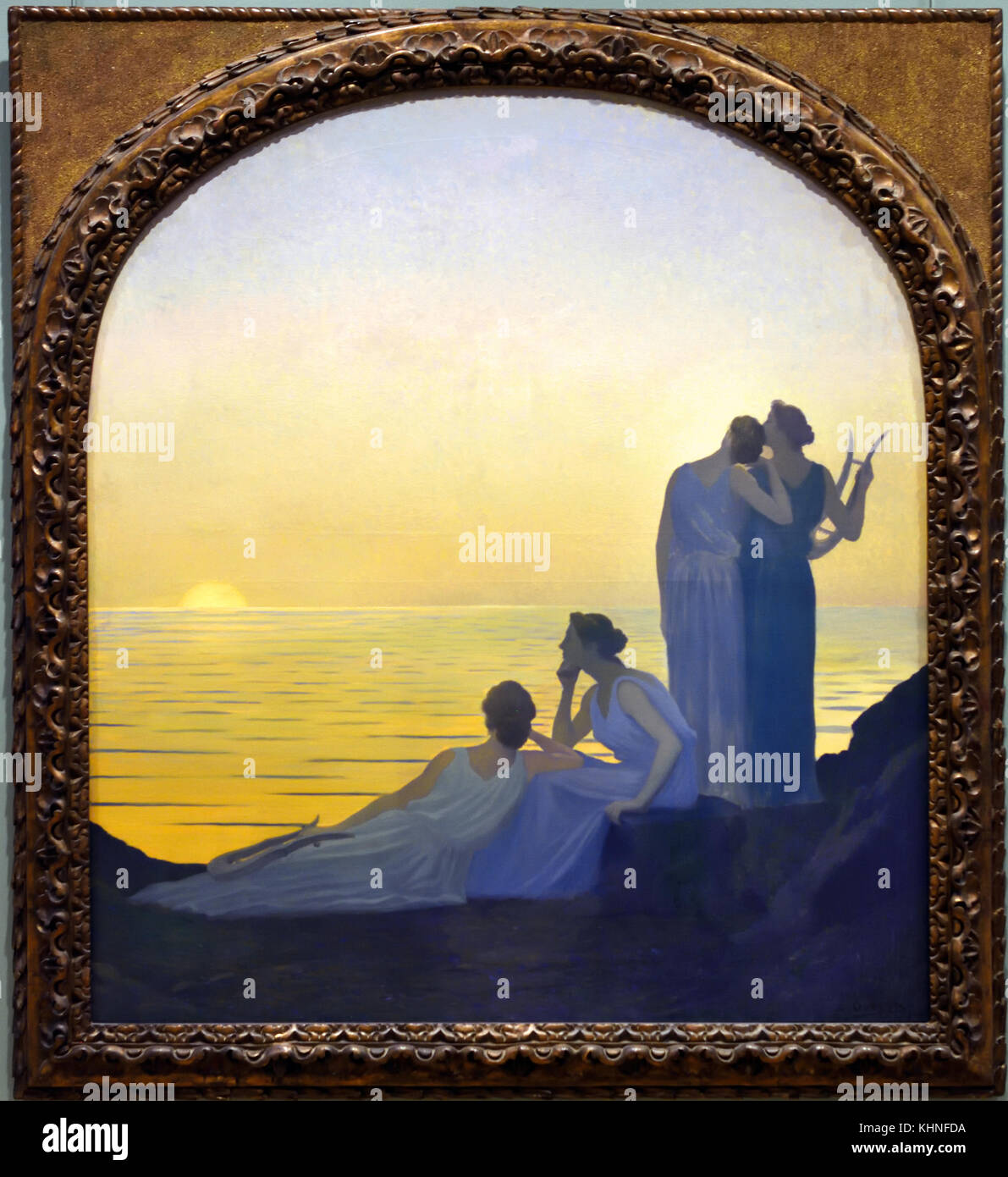 Soir antique - Ancient evening 1908 Aphonse Osbert 1857-1939 France, French. - Stock Image