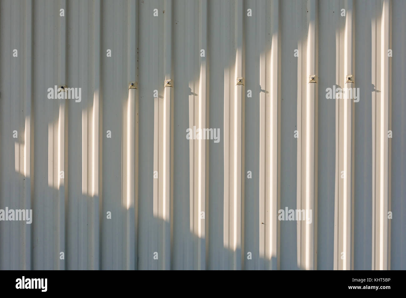 Aluminium clad wall of building - France. - Stock Image