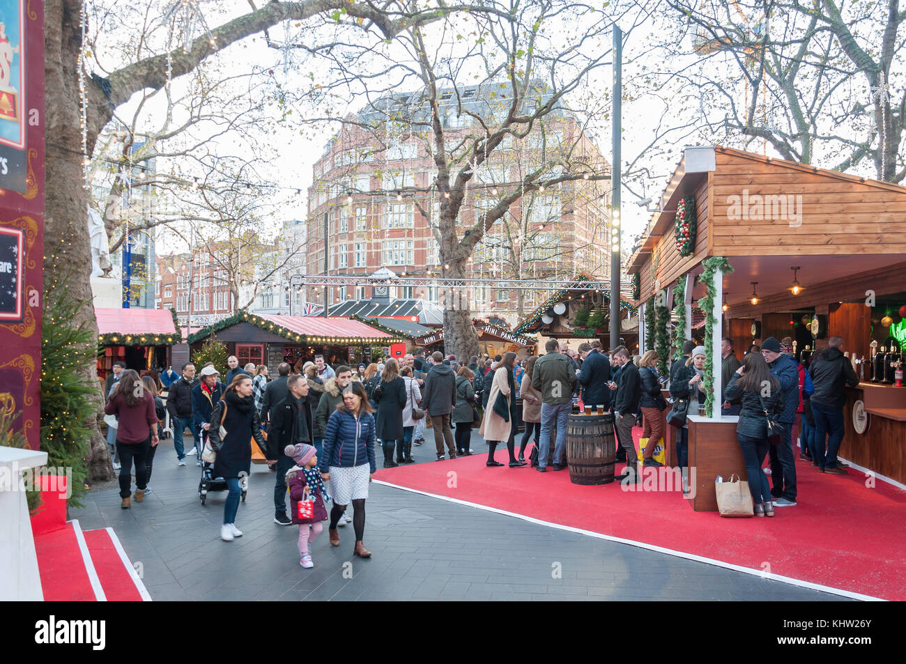 Christmas in Leicester Square festival, Leicester Square, West End, City of Westminster, Greater London, England, - Stock Image