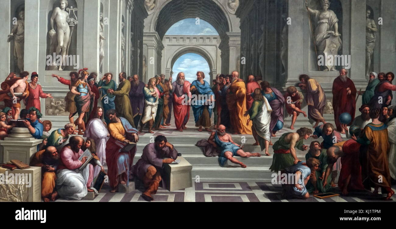 an analysis of the artork school of athens by raphael School of athens refers to a famous fresco painted by raphael in the apostolic  palace  school of athens continues to drive discussion and analysis among art .
