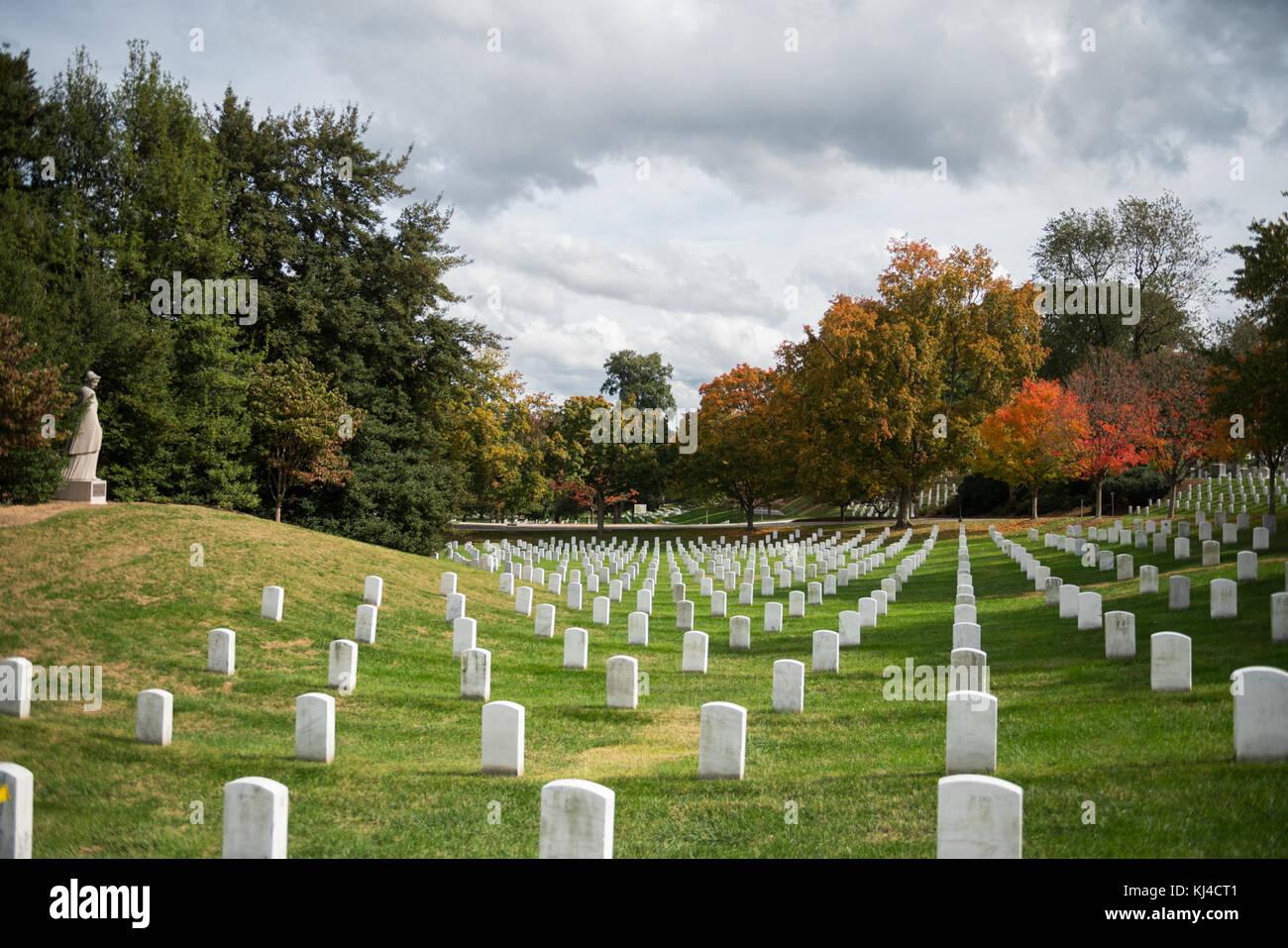 Fall Foliage at Arlington National Cemetery 2017 (37857522876) Stock Photo