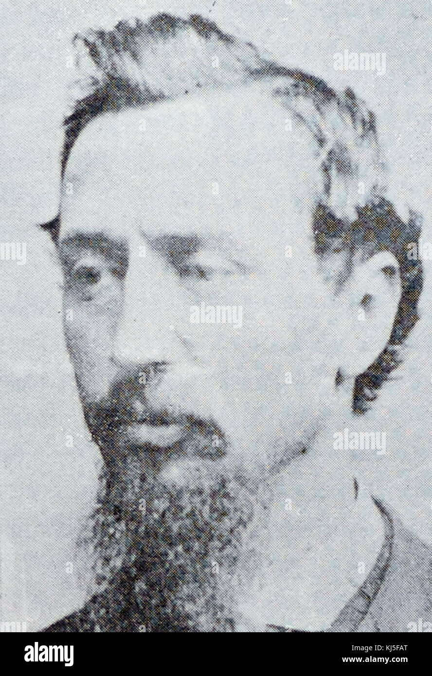 Portrait of Charles W. Bullard, an American criminal who was also known as 'Piano Charley'. Dated 19th Century Stock Photo