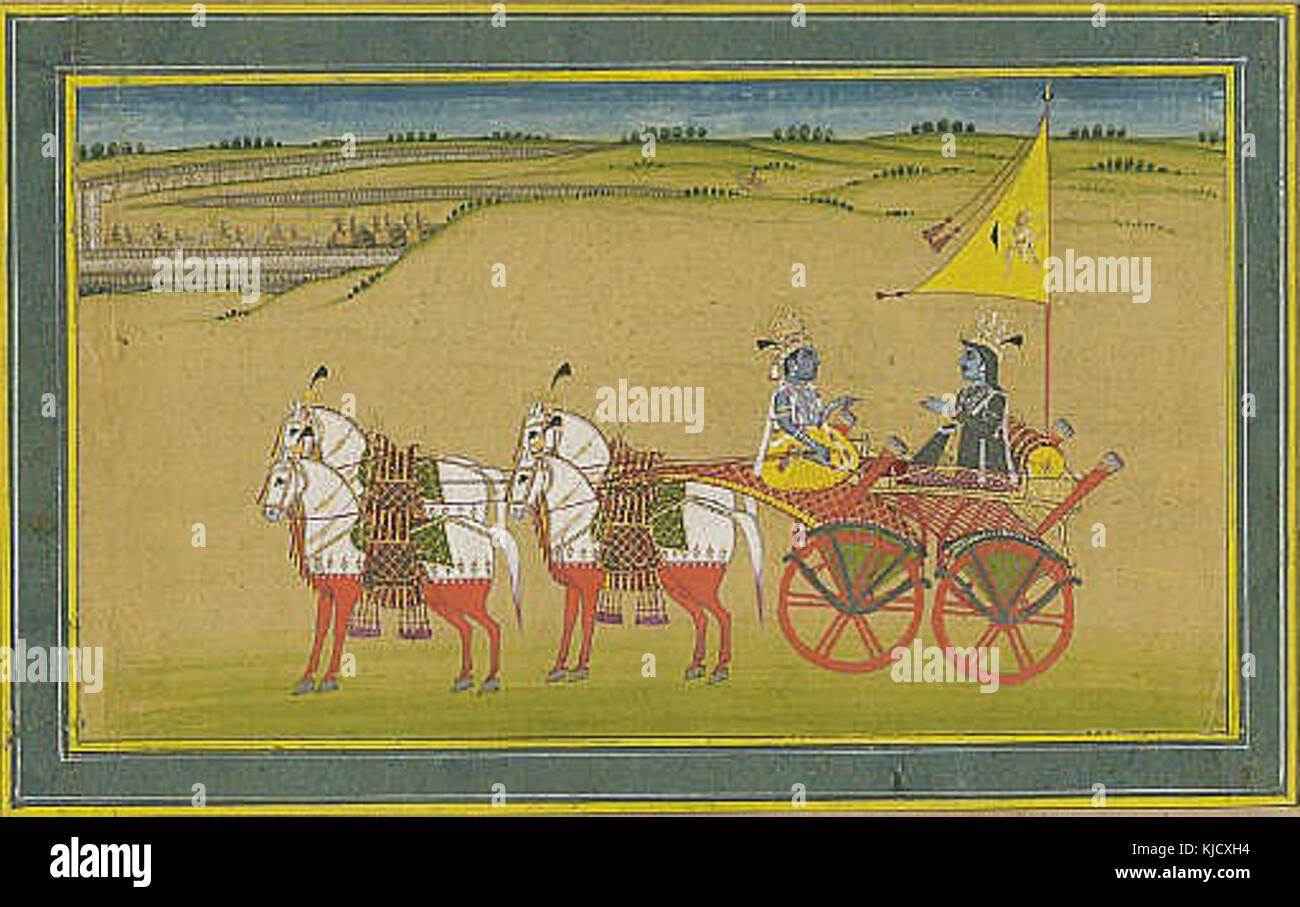 The Delivery of the Bhagavad Gita - Stock Image