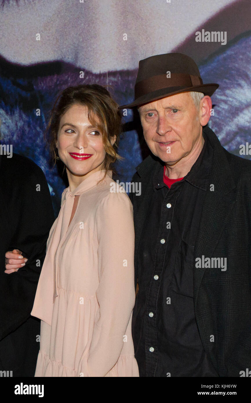 Torino, Italy. 24th November 2017. Actress Isabella Ragonese (left) and film director Gillies MacKinnon (right) - Stock Image