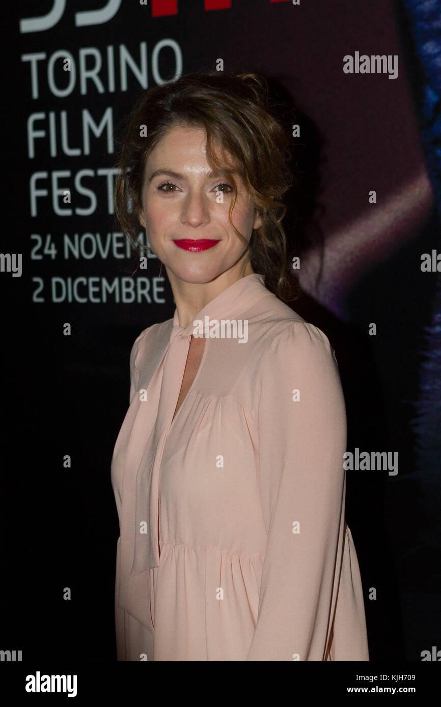 Torino, Italy. 24th November 2017. Italian actress Isabella Ragonese on red carpet during opening night of Torino - Stock Image