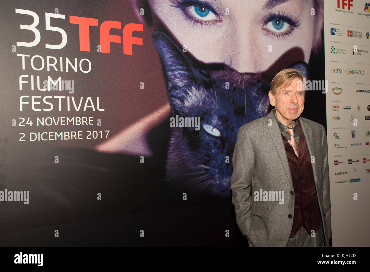 Turin, Piedmont, Italy. 24th Nov, 2017. Torino, Italy-November 24, 2017: Timothy Spall on the redcarpet of the 35 - Stock Image