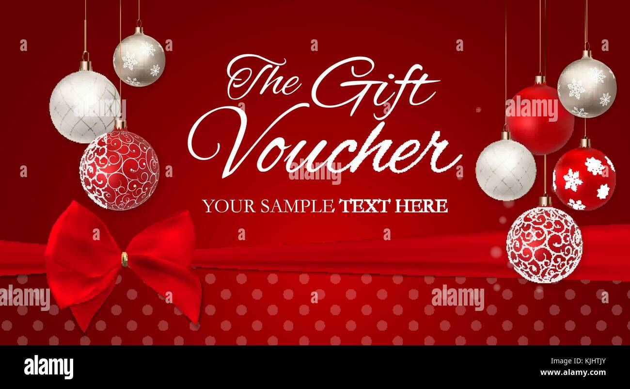 Christmas And New Year Gift Voucher Discount Coupon Template Vector
