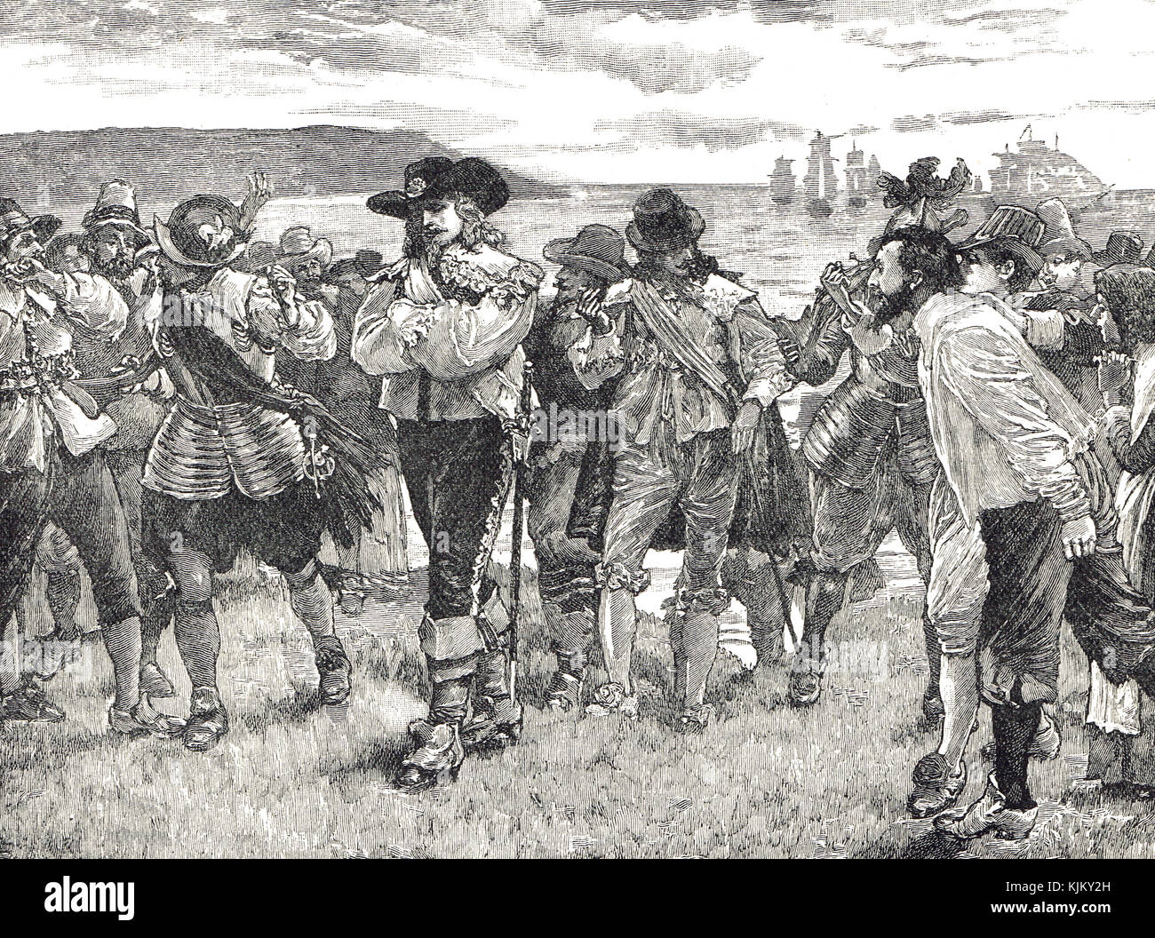 Edward Cecil being booed at Plymouth on his return from Lisbon with the  loss of a thousand men. Viscount Wimbledon, - Stock Image