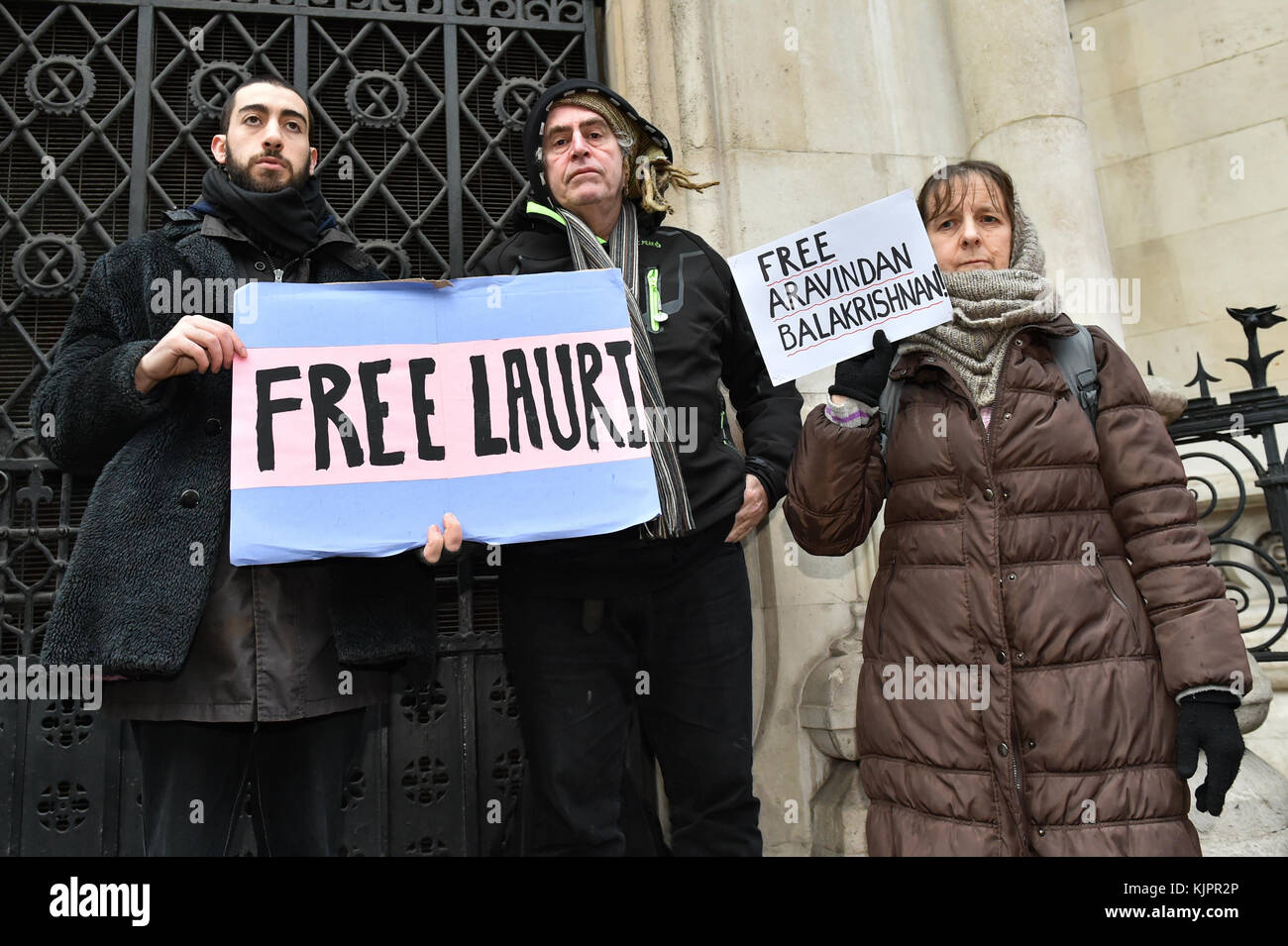 London, United Kingdom. 29 November 2017. Lauri Love arrives at the Royal Courts of Justice in central London for - Stock Image