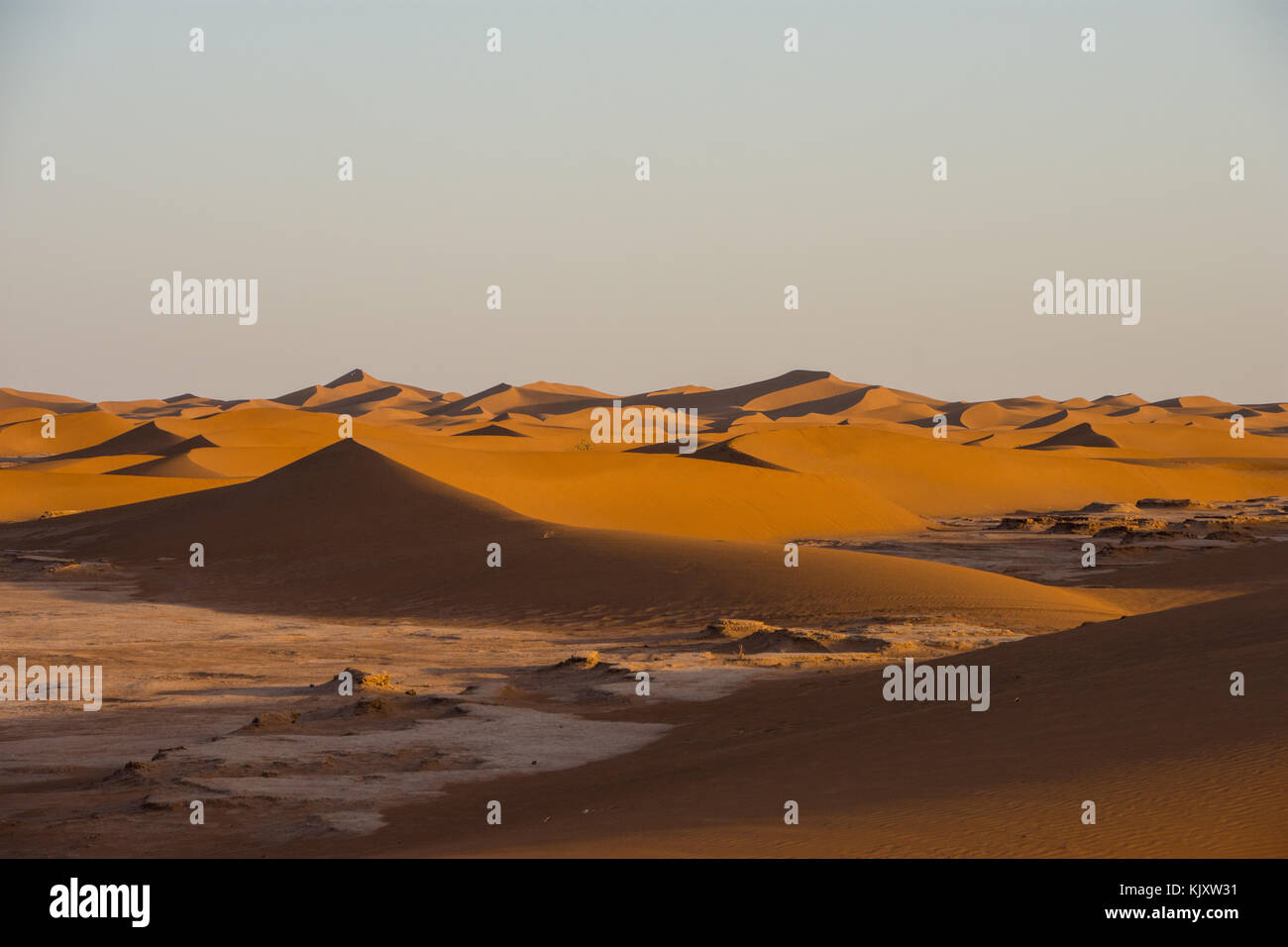 Sahara is the largest desert in the world - Stock Image