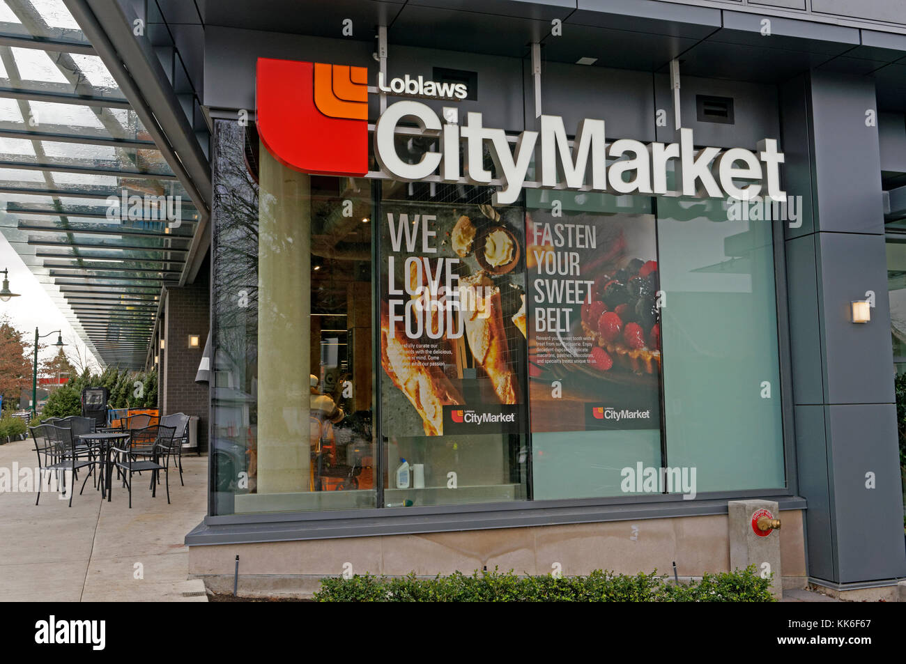 Loblaw's City Market grocery store on Arbutus Street  in Vancouver, BC, Canada Stock Photo