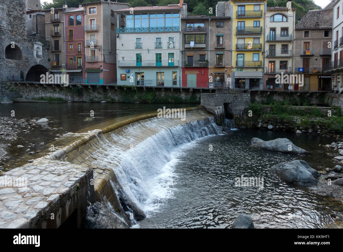 Camprodón.Ter river.Catalonia.Spain - Stock Image