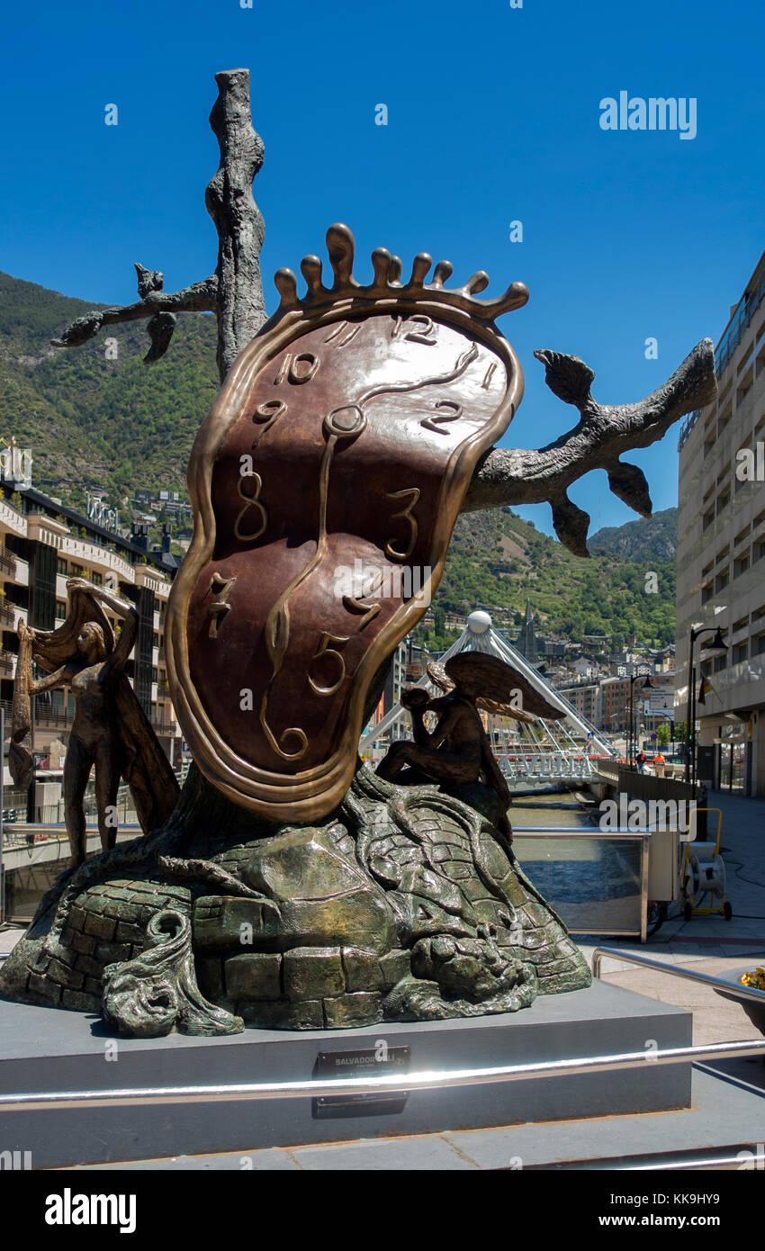 Salvador Dali sculpture:Noblesse du temps.Andorra - Stock Image