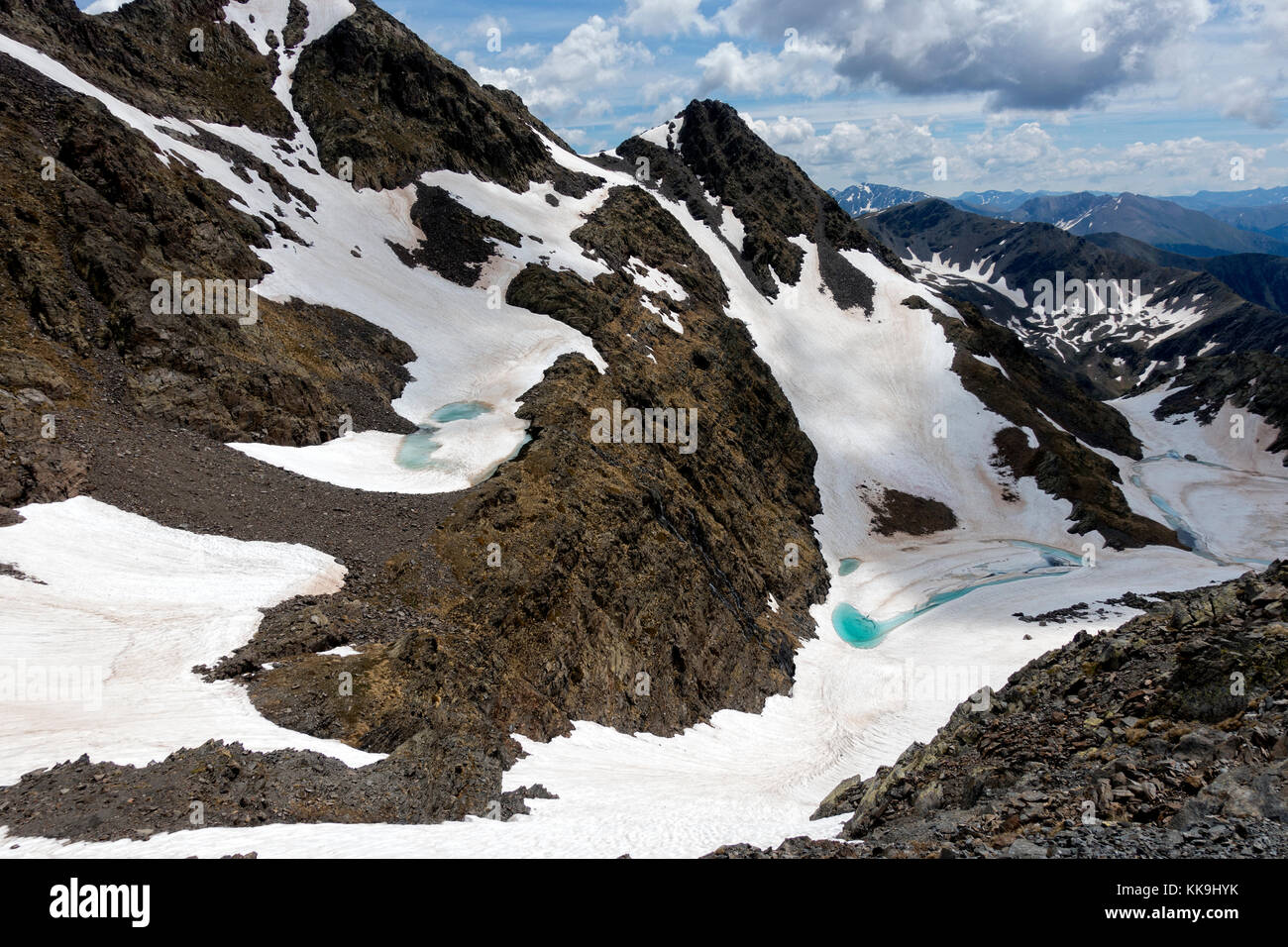 Mountain landscape.Pic de Pessons.Andorra - Stock Image