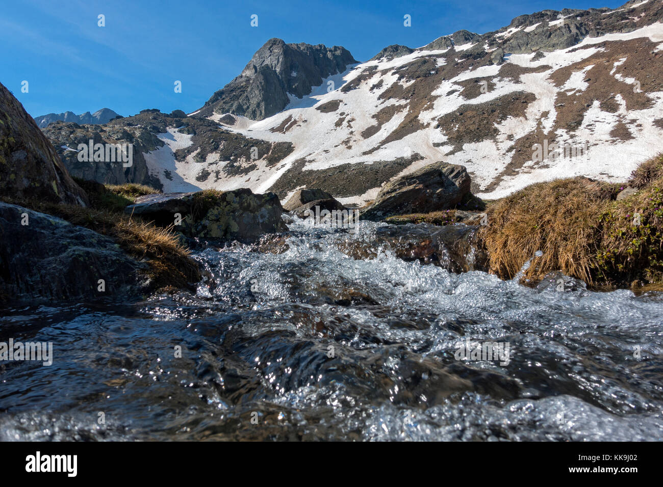 Springtime at the Pyrenees.Catalonia.Spain - Stock Image