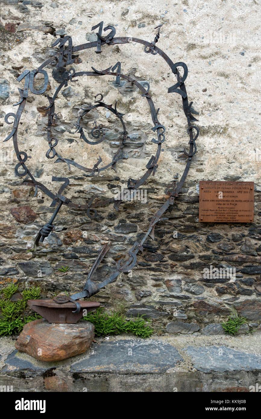 Iron sculpture - Stock Image